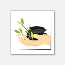 Holding Massage Stones Sticker
