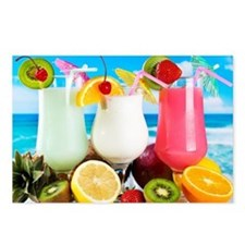 Exotic Summer Cocktails Postcards (Package of 8)