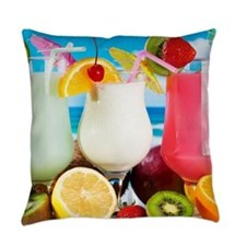 Exotic Summer Cocktails Everyday Pillow