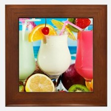 Exotic Summer Cocktails Framed Tile
