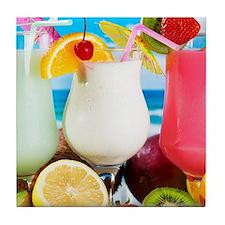 Exotic Summer Cocktails Tile Coaster