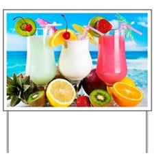 Exotic Summer Cocktails Yard Sign
