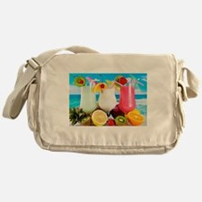 Exotic Summer Cocktails Messenger Bag