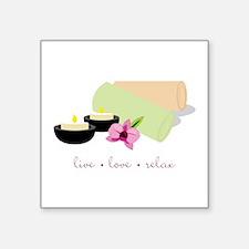 Live Love Relax Sticker