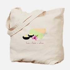 Live Love Relax Tote Bag