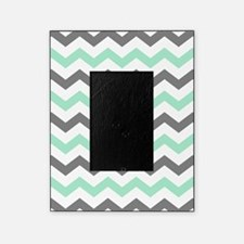 Mint and Gray Chevron Pattern Picture Frame