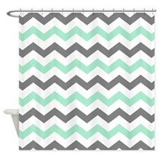 Gray And Mint Shower Curtains