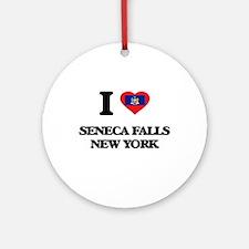 I love Seneca Falls New York Ornament (Round)