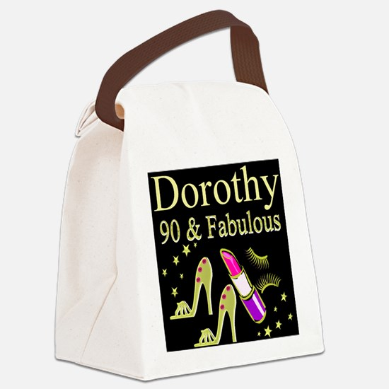 PERSONALIZED 90TH Canvas Lunch Bag
