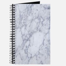 Realistic White Faux Marble Stone Pattern Journal