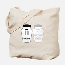 Bride and groom, salt and pepper Tote Bag