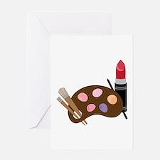 Makeup Pallet Greeting Cards