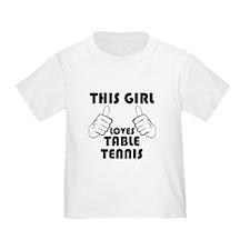 This Girl Loves Table Tennis T-Shirt