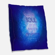 Music In The Soul Burlap Throw Pillow