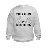 Girls book worm Crew Neck