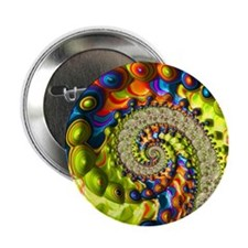 """Fractal  Colorful  Abstract Art 2.25"""" Button"""