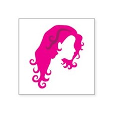 Girl with curly hair Sticker