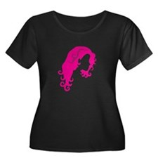 Girl with curly hair Plus Size T-Shirt