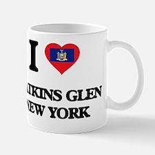 I love Watkins Glen New York Small Small Mug