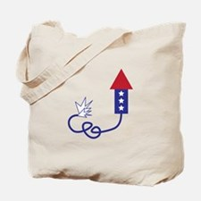 Fourth of July rocket Tote Bag