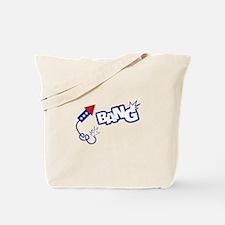 Bang, fireworks Tote Bag