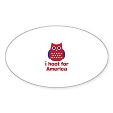 I hoot for America Decal