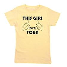 This Girl Loves Yoga Girl's Tee