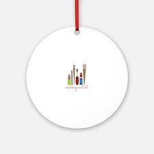 Makeup Artist Tools Ornament (Round)