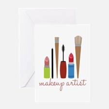 Makeup Artist Tools Greeting Cards