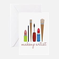Makeup Artist Tools Greeting Cards