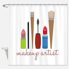 Makeup Artist Tools Shower Curtain
