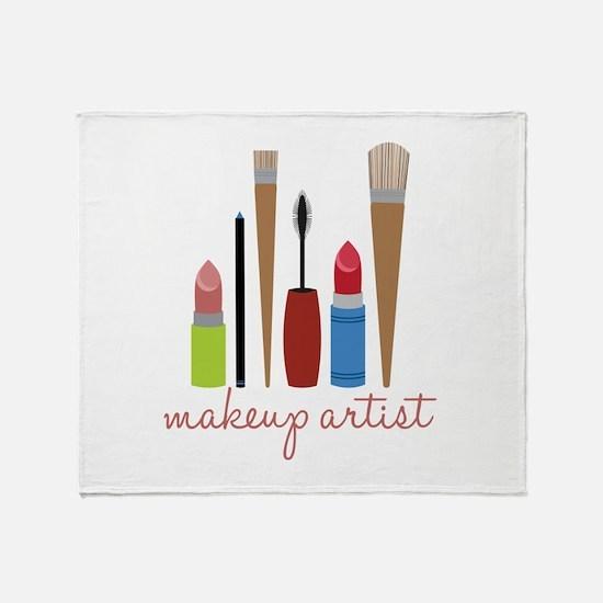 Makeup Artist Tools Throw Blanket