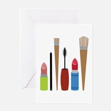 Makeup Tools Greeting Cards