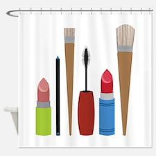 Makeup Tools Shower Curtain