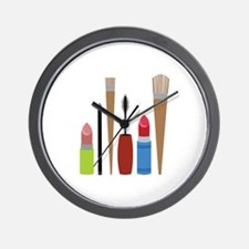 Makeup Tools Wall Clock