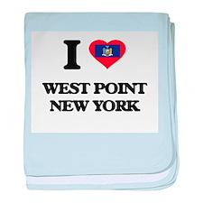 I love West Point New York baby blanket