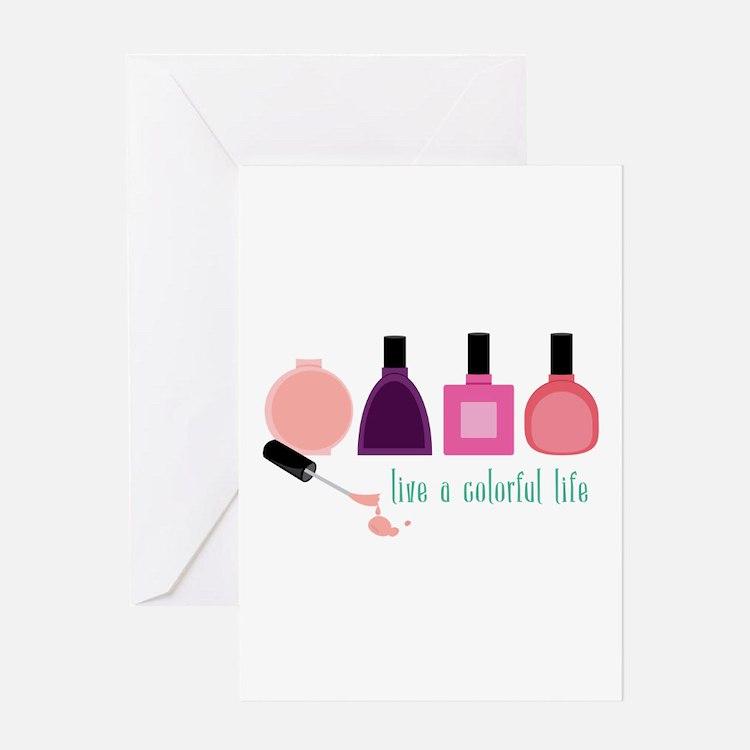 Colorful Life Nail Polish Greeting Cards