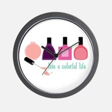 Colorful Life Nail Polish Wall Clock