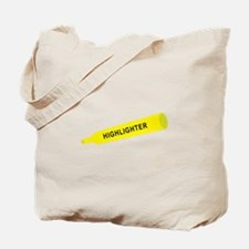 Yellow highlighter Tote Bag