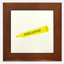 Yellow highlighter Framed Tile