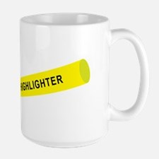 Yellow highlighter Mugs