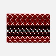 Black Red and White Qu Rectangle Magnet (100 pack)