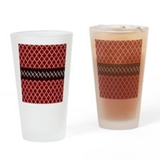 Black Red and White Quatrefoil Drinking Glass
