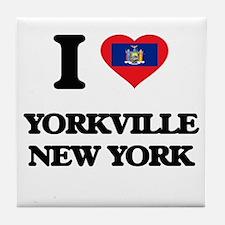 I love Yorkville New York Tile Coaster