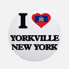 I love Yorkville New York Ornament (Round)
