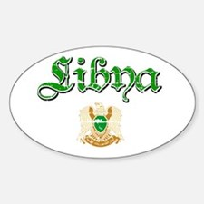 Libyan Coat of arms Oval Decal