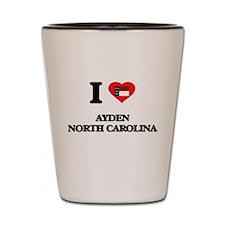 I love Ayden North Carolina Shot Glass