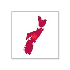 Nova Scotia Canada Province Map Maple Leaf Sticker