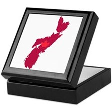 Nova Scotia Canada Province Map Maple Leaf Keepsak