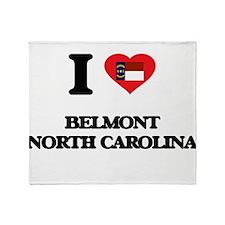 I love Belmont North Carolina Throw Blanket